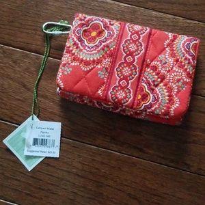 Vera Bradley paprika compact wallet